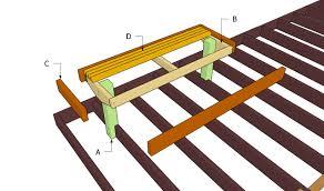 deck bench plans myoutdoorplans free woodworking plans and