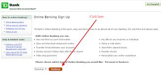 td bank banking login cc bank