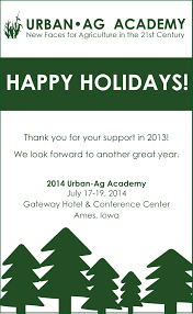 urban ag academy blog wishes for a safe and happy holiday season