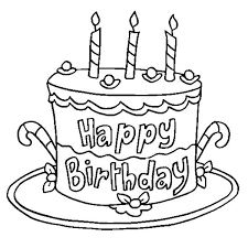 delicious happy birthday cake coloring page delicious happy