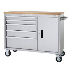 bunnings kitchen cabinets bench mobile work benches tennsco storage made easy mobile