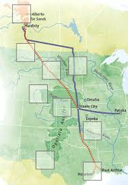 keystone xl pipeline map a pipeline carrying from canada to what