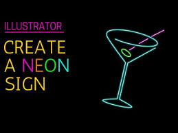 tutorial illustrator glass make a glowing neon sign in illustrator youtube