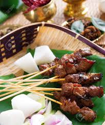 cuisine n駱alaise beef satay roasted skewer food traditional malaysia