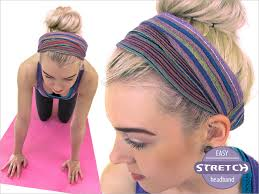 yoga headband tutorial stretchy headbands pleated turban styles sew4home