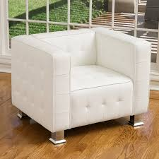 shop best selling home decor mcqueen modern white faux leather