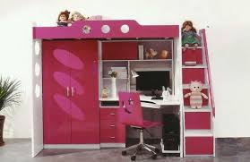 Bunk Bed Ideas With Desks Ultimate Home Ideas - Pink bunk beds for kids