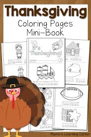 thanksgiving coloring pages mamas learning corner