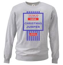 grey or white tesco u0027s funny value christmas jumper tesco black