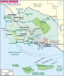santa map santa barbara county map map of santa barbara county california