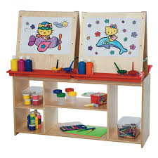 howling kids w paper board shelf then kidkraft wooden art easel