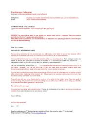 leaver cover letter template