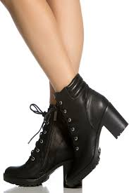 black lace up motorcycle boots black faux leather chunky lace up booties cicihot booties spell