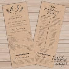Kraft Paper Wedding Programs Diy Weddings Collection Gift Ideas