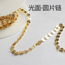 gold filled necklace images Ib5082 gold filled smooth small round sheet chain not fade 4mm jpg