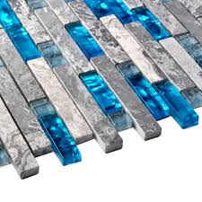 Blue Glass Tile Kitchen Backsplash Sea Blue Glass Mosaic Tile Kitchen Backsplash Grey Marble Bathroom