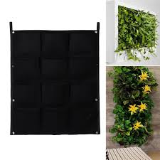 Wall Mounted Planter Online Shop 12 Pocket Hanging Felt Garden Plant Grow Container