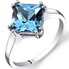 gold topaz rings images Swiss blue topaz ring 14k white gold princess r62188 peora jpg