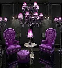 purple and black room i love the idea of layering another sheer colored curtain over the