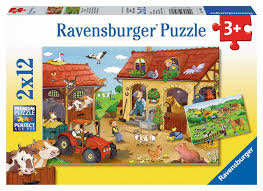 usa map jigsaw puzzle by hamilton grovely 2 working on the farm 2 x 12 jigsaw puzzle