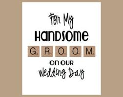 card to groom from groom card etsy