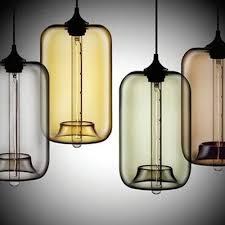 Industrial Glass Pendant Light Loft Industrial Multi Color Glass Pendant Light