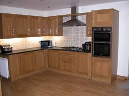 kitchen affordable natural brown solid wood l shape kitchen