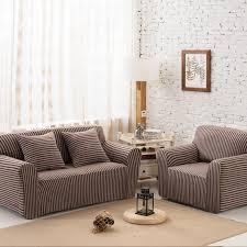 canap brun brun rayures pas cher coin canapé couvre pour salon multi taille