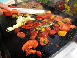 cuisiner à la plancha gaz chorizo poivron péquillos légumes à la plancha à gaz recette