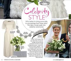 wedding flowers and accessories magazine our gorgeous mariella dress as seen in wedding flowers