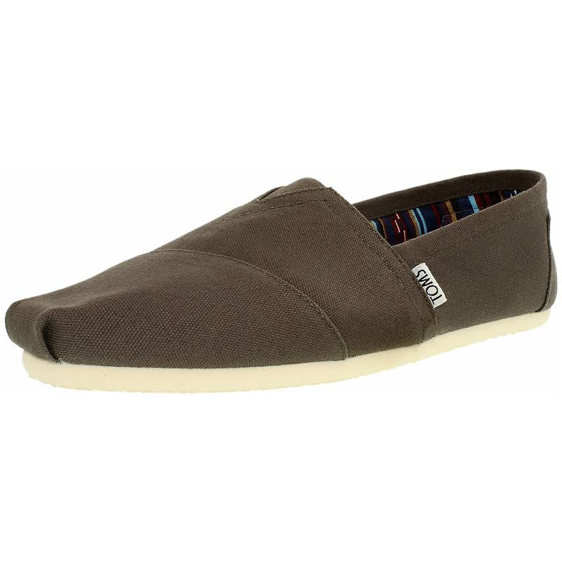 Toms Alpargata Canvas Ash Ankle-High Flat Shoe 13M