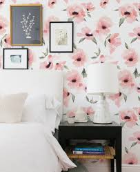 Watercolor Wallpaper For Walls by Watercolor Poppy Flowers Wallpaper Peel And Stick