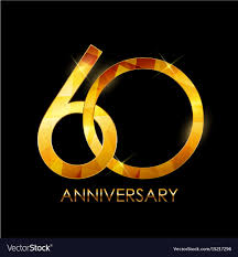 60 years anniversary template 60 years anniversary congratulations vector image