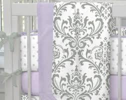Lilac Damask Crib Bedding Antique Crib Quilt Etsy