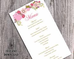wedding menu template diy menu card template editable text word