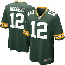 mens green bay packers aaron rodgers nike green jersey