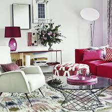 Colorful Shag Rugs Living Rooms Soft Red Fabric Reclining Sofa Colorful Shag Rug