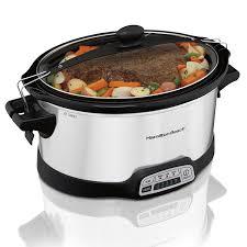 amazon com hamilton beach programmable slow cooker 7 quart with