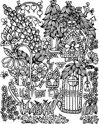 happyville fairy house 2 1 coloring book page printable