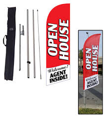 Custom Feather Flags Open House Flags Real Estate Feather Banners Feather Flag Nation