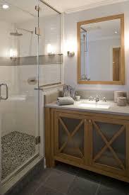 Grey Slate Tile Bathroom Bathrooms Blue Walls Bathroom Vanity Gray Quartz Countertops
