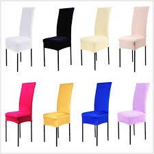 Black Dining Chair Covers 1 13 Solid Colors Polyester Spandex Dining Chair Covers For