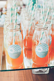 Drinks For Baby Shower - cool mint u0026 metallic