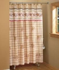 Country Bathroom Shower Curtains Primitive Shower Curtains Foter
