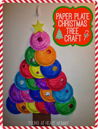 holiday craft painted paper plate christmas tree young at