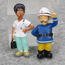 12pcs fireman sam action figure toys 3 6cm cute cartoon pvc