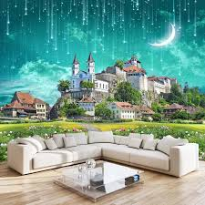 3d galaxy wallpaper fantasy castle wall mural custom wallpaper