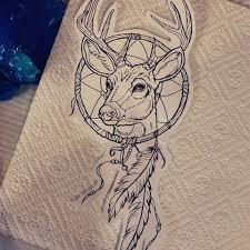 drawn dreamcatcher deer pencil and in color drawn dreamcatcher deer
