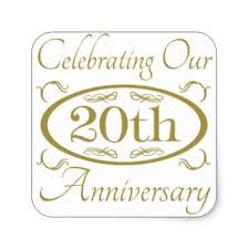20 year wedding anniversary 20 year anniversary stickers zazzle