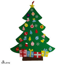 large 95cm wall hanging felt christmas tree kit childrens kids